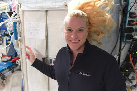 NASA astronaut Kate Rubins just cast her vote - from space