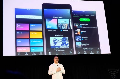 Spotify launches a redesigned app with on-demand playlists for free users