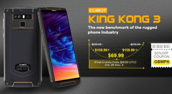 Rugged CUBOT King Kong 3 on sale for just $159.99