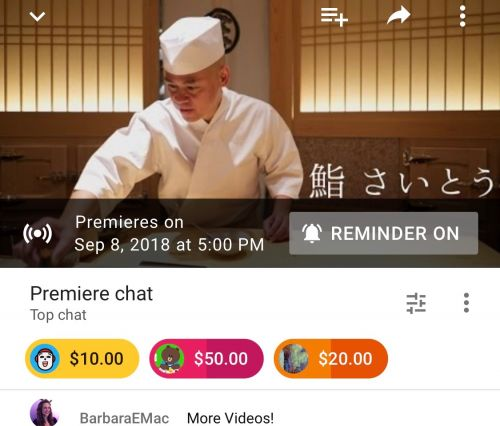 YouTube creators can hype pre-recorded videos with 'Premieres'
