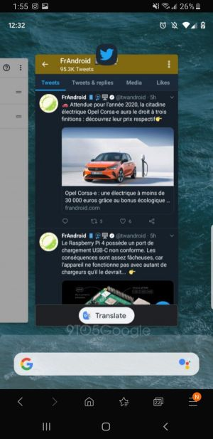 Android Q Recents Screen May Include Google Translate