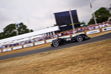 Watch an autonomous race car tackle England's famous Goodwood hill climb
