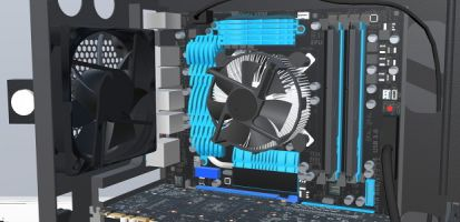 PC Building Simulator booting up in autumn