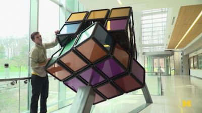 Destress With Giant Student-Made Rubik's Cube at U of Michigan