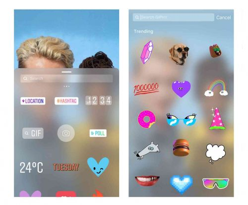 Instagram adds GIF stickers to stories with GIPHY