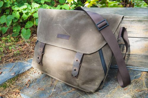 Waxed canvas messengers from Trakke, Waterfield, and Mission Workshop are spacious and rugged
