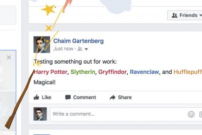 Facebook celebrates Harry Potter's 20th anniversary with a magical Easter egg