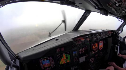 Watch: Scary Cockpit Footage of Plane Landing in Thunderstorm