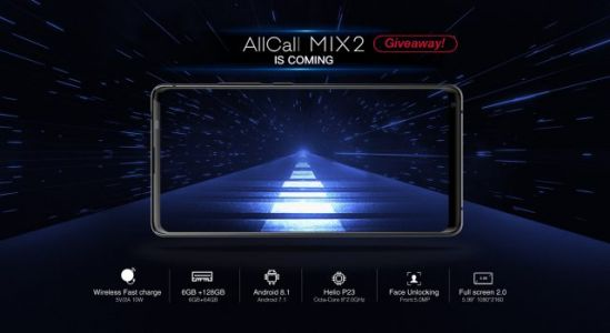 Win a Full Screen AllCall Mix2 Flagship Phone