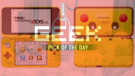 GEEK PICK OF THE DAY: Nintendo 2DS XL Yellow Pikachu Edition Bundle
