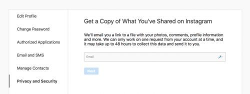 """Instagram launches """"Data Download"""" tool to let you leave"""