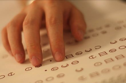 Could this easy-to-learn tactile typeface replace braille?