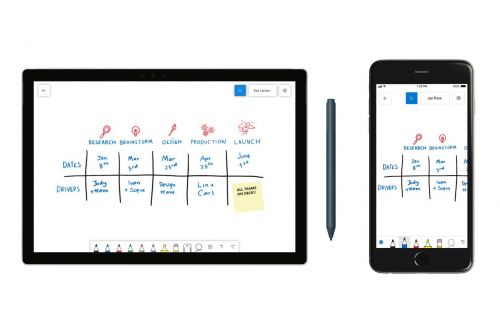 Microsoft's collaborative Whiteboard app is coming to Windows 10, iOS, and the web