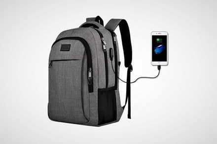 Save $40 on a laptop backpack that has its own USB charging port