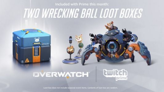 Free Overwatch Loot Boxes For Wrecking Ball Available To Amazon / Twitch Prime Members