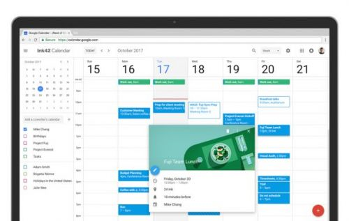 Google Calendar on Web gets a modern design and new enterprise features