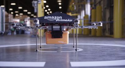 Amazon's drone deliveries could include shipping label parachutes