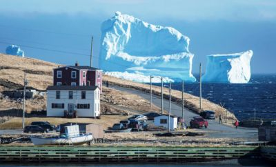 An Enormous Hunk of Ice Gets Stuck in Iceberg Alley