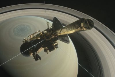 NASA's Cassini spacecraft is about to plunge between Saturn and its rings - before spiraling into the planet