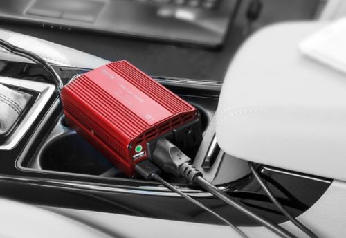 Charge your laptop in your car with this inverter on Amazon