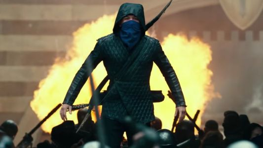 Jamie Foxx Trains Taron Egerton To Be a Warrior in New Trailer For ROBIN HOOD