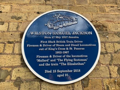 King's Cross station plaque commemorates Britain's first black train driver