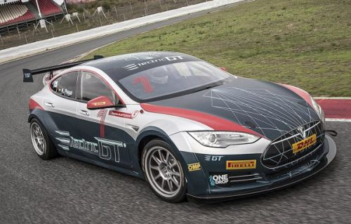 Electric GT EV series debuts its race-ready Tesla Model S