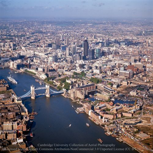 An archive of aerial photos of London