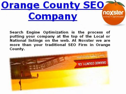 SEO and Web Design Company Orange County