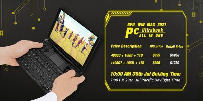 GPD Win Max 2021 handheld gaming PC with Intel or AMD up for pre-order through Indiegogo