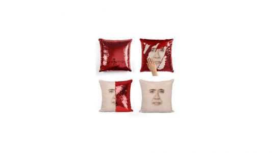 Finally, Someone Has Made A Nicolas Cage Sequin Pillow