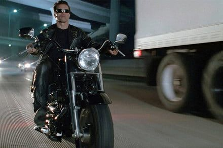 Bring your clothes, your boots, and buy this motorcycle from 'Terminator 2'