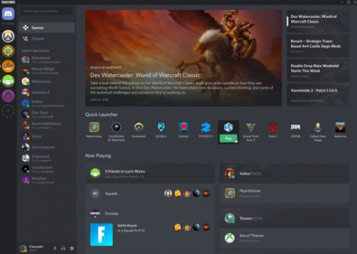 Discord's Games tab is a launcher, news feed, and friends list all in one