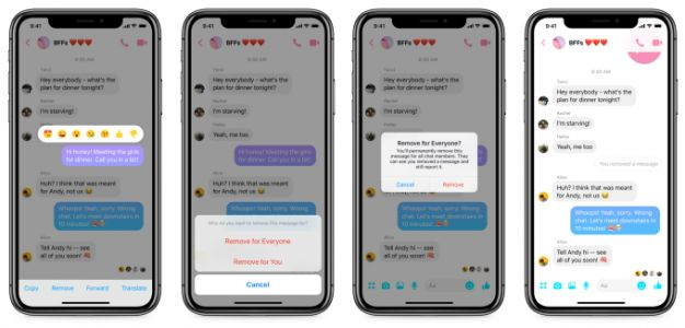 Facebook Messenger starts rolling out Unsend. Here's how it works