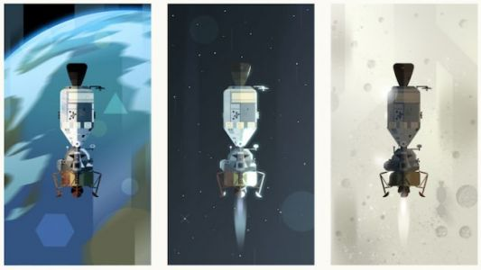 Google Doodle Takes You On a Journey to the Moon and Back