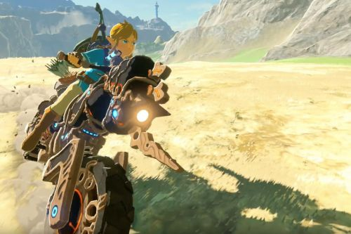 Link can ride a motorcycle in Breath of the Wild's new DLC