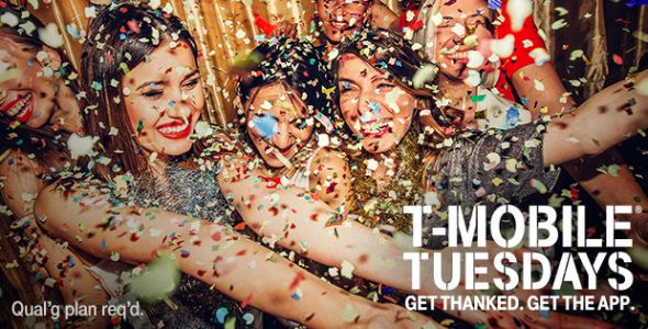 Next week's T-Mobile Tuesday gifts include free Redbox rental and discounted Quiksilver clothing