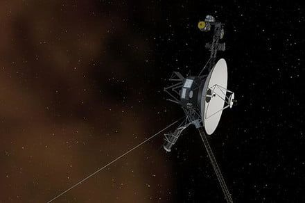 Beyond our solar system, Voyager 1 picks up the hum of interstellar gas