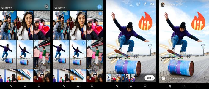 Instagram Stories now allows multiple photo and video uploads at once