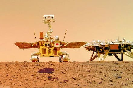 China's Zhurong rover snaps a selfie on the surface of Mars