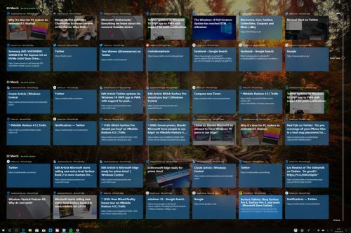 Chime in: What do you think of Windows 10's new Timeline feature?