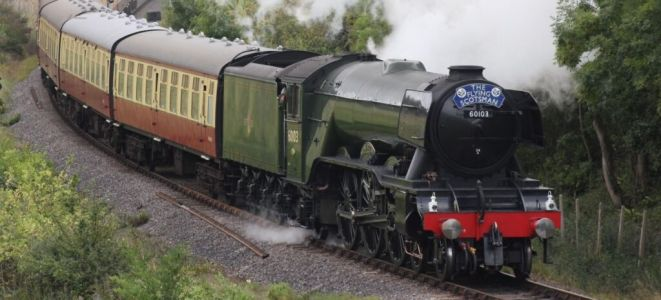See the Flying Scotsman steam train in London
