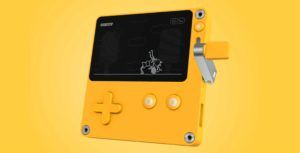 The newest gaming handheld has a crank and looks like Pikachu