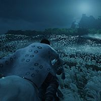 Using vorticles to simulate wind in Ghost of Tsushima