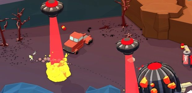 Vehicular puzzler Mugsters looks a little like Blast Corps