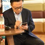Samsung's CEO has been spotted using the Galaxy Note 9 in public