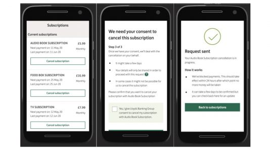 Lloyds Bank app to offer three-click cancellation of subscriptions