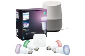 Best Buy is selling a Philips Hue-Google Home Bundle for $199 today