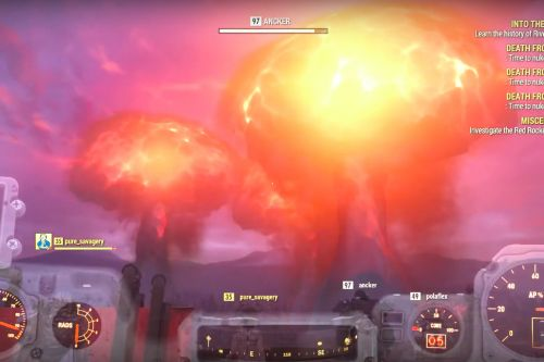 Fallout 76 players launched so many nukes at once that they crashed a server