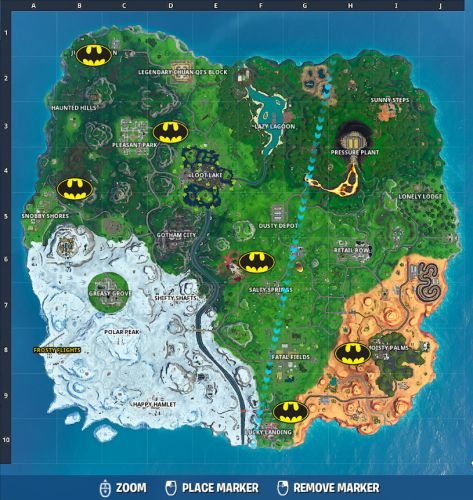 Fortnite Bat Signal Locations: Where To Light Bat Signals Outside Of Gotham City